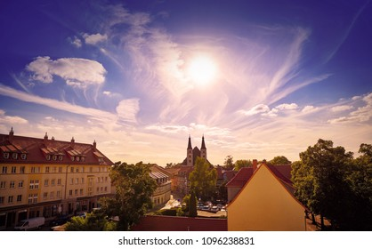 Nordhausen skyline in Harz Thuringia of Germany