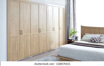 Nordic style. Country style interior. Tranquil bedroom interior
