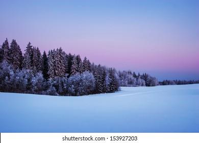 Nordic winter twilight