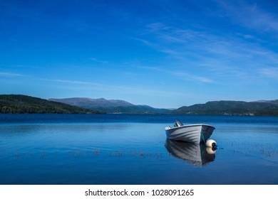 Nord-Trøndelag, Nordland; idyll with boat