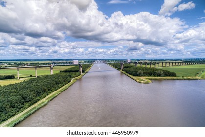 Nord-Ostsee-Kanal Hochbruecke HDR Aerial