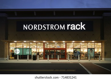 Nordstrom Rack at night in Allentown, PA, USA. September 12, 2017