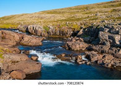 Nordura river in Borgarfjordur Iceland