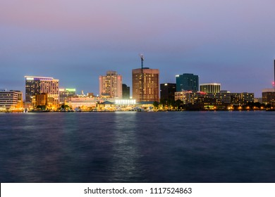 Norfolk, Virginia - July 23, 2017: Newly built Waterside District is now open for business and tourism.