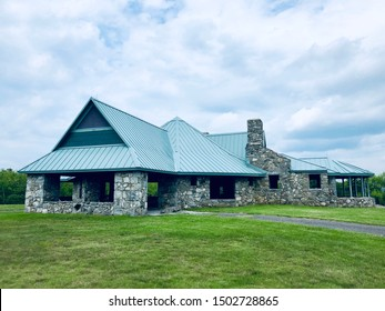 Norfolk,Connecticut,United States.June 2nd,2019.Tamarack Lodge Bungalow building house standing on Dennis Hill State Park in Norfolk Connecticut New England United States.