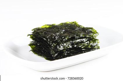 Nori Seaweed on white background