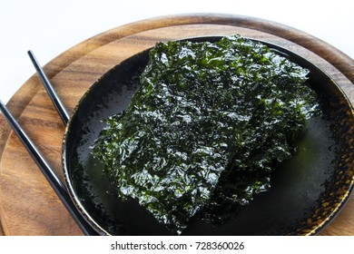 Nori Seaweed on white background