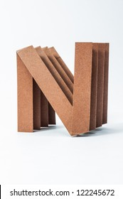 N-Origami alphabet letters recycled paper craft fold.