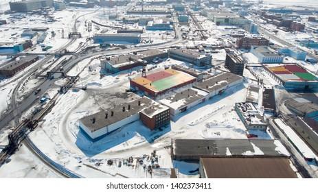 Norilsk city technology on north