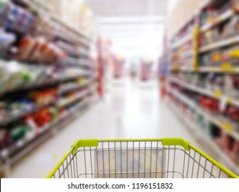 Normal angle department store background blur.People shopping in department store. Defocused blur background.