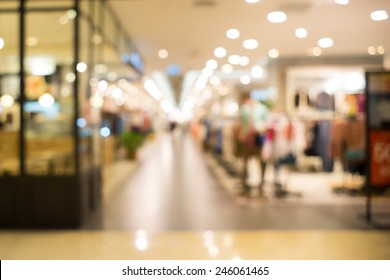 Normal angle department store background blur with bokeh.