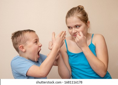 normal arguing from childhood between a brother and sister