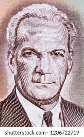Norman Manley portrait from Jamaican money