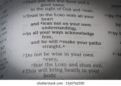 Norman, OK 8/27/2018 Close up of the bible verse: Proverbs 3:6
