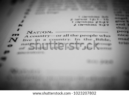 what does the word nation mean