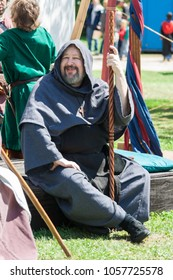 NORMAN, OKLAHOMA -  MARCH 31 2007: A man wearing medieval costume in annual Medieval Fair event