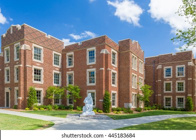 NORMAN, OK/USA - MAY 20, 2016: Hester and Robertson Halls on the campus of the University of Oklahoma.