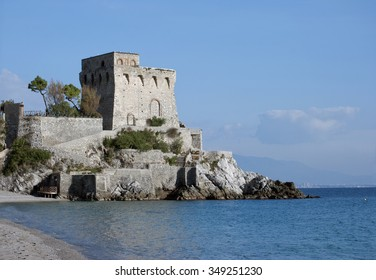 Norman tower Erchie village, Amalfi coast Italy