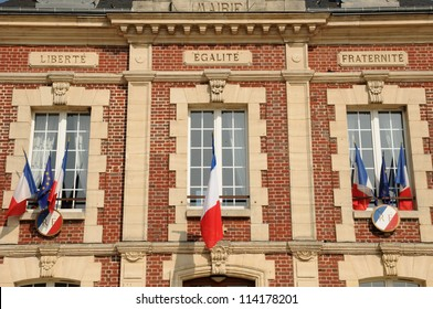Normandie, the city hall of Gasny in Eure