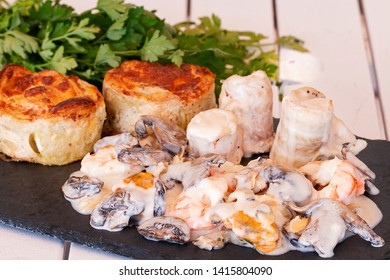 Normandische tongfilets with potatoes and parsley.