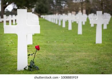 Normandy American Cemetery Omaha Beach northern France