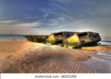 Normandy landing beach