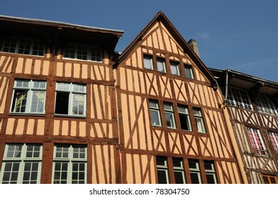 Normandy, picturesque old house in Rouen