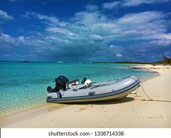 Normans Cay Beach Dinghy