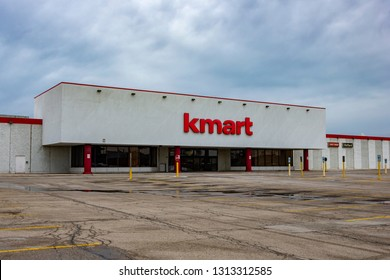 Norridge, Illinois, United States - February 14, 2019: Shot of the recently closed down KMart discount department store due to its 2018 bankruptcy filing.