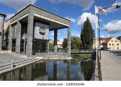 NORRKOPING, SWEDEN - AUGUST 25, 2018: Louis De Geer Concert and Congress Hall in Norrkoping, Sweden. Norrkoping is Sweden's 8th largest municipality with population of 137,326.
