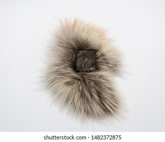 Norse rune Thurisaz (Thurs), isolated on fur and white backgroun background. The strength and defense of a warrior. Male sexuality. Courage. Rune Thurisaz is associated with the Scandinavian God Thor.