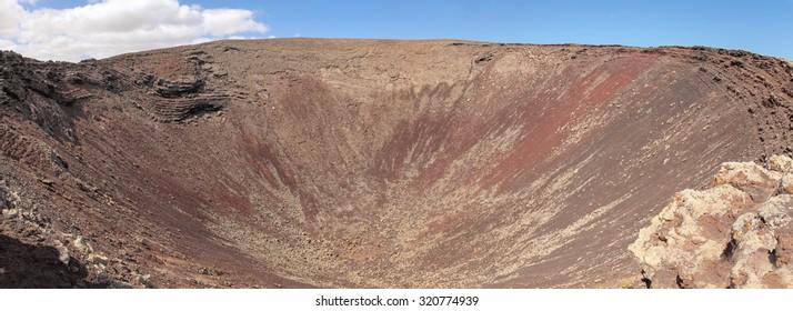 Nortern Fuerteventura, view over volcanic Crater Calderon Hondo