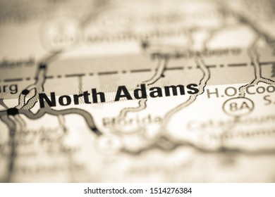 North Adams. Massachusetts. USA on a geography map