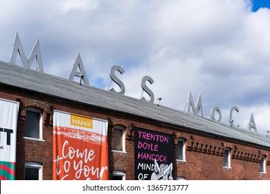 North Adams / USA - April 2019: The MASS MoCa, a museum for contemporary art.