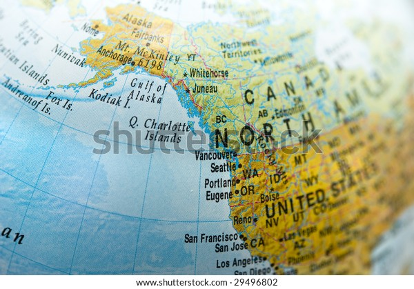 North America Canada Map Stock Photo (Edit Now) 29496802