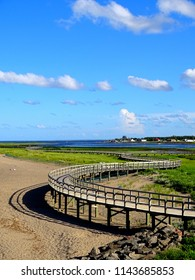North America, Canada, New Brunswick, Bouctouche Dunes Boardwalk