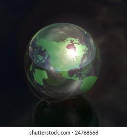 north america crystal globe