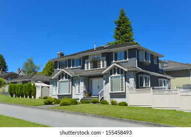 North American house in suburbs of Vancouver.