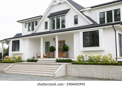 North American modern Belgian-style farmhouse