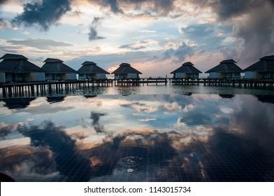 North Ari Atoll, Maldives March 2013: Sunset at North Ari atoll, Maldives