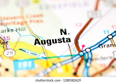 North Augusta. Augusta. USA on a map