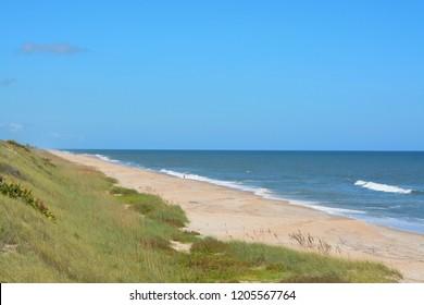 North Beach Guana River Preserve in St Johns County, Atlantic Ocean, Florida.