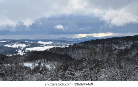 North Bohemia winter landscape