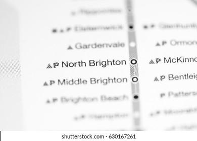 North Brighton Station. Melbourne Metro map.