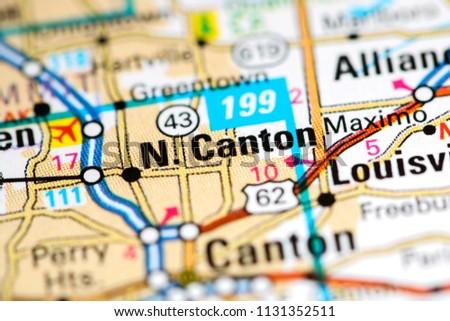 North Canton Ohio Usa On Map Stock Photo Edit Now 1131352511