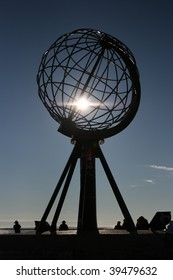 north cape globe, nordkapp, norway