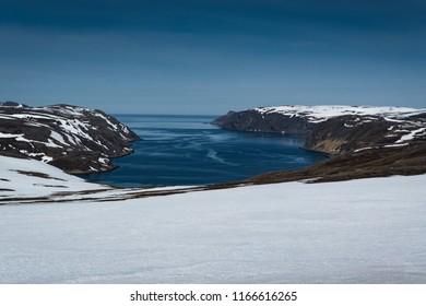 North Cape Honningsvag, Norway in Snow