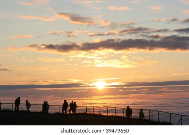 north cape  midnight sun, nordkapp, norway