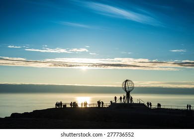 North Cape (Nordkapp), on the northern coast of the island of Mager�¸ya in Finnmark, Northern Norway.
