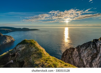 North Cape (Nordkapp), on the northern coast of the island of Mageroya in Finnmark, Northern Norway.